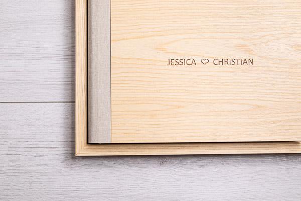 Album libro legno