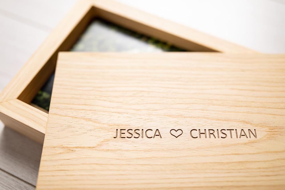 Wedding box wood